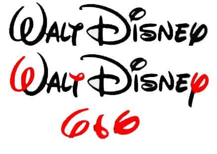 Signature de Walt Disney avec ajout de cercles pour désigner les trois six