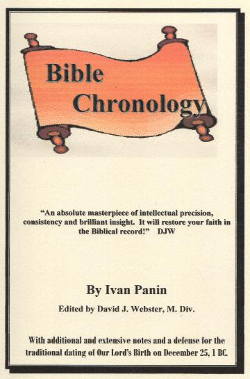 "Ivan Panin  ""Bible Chronology"" publié par David J. Webster, M. Div."