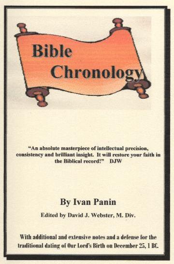 """Ivan Panin """"Bible Chronology"""" publié par David J. Webster, M. Div."""