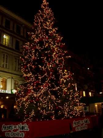 Arbre de Noël à Genève
