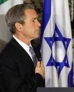 Bush et drapeau Israélien