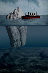 Titanic et iceberg