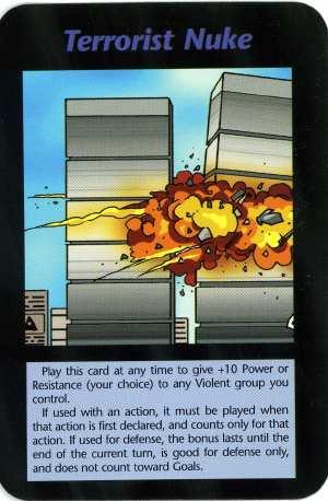 Cartes du Jeu INWO conçu et édité par Steve Jackson