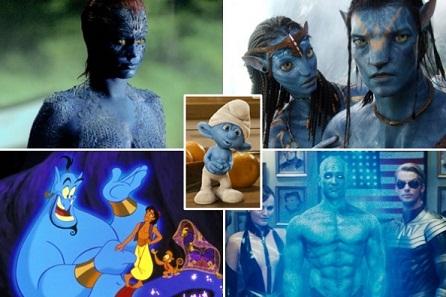 Personnages de fictions cinématographiques en bleu