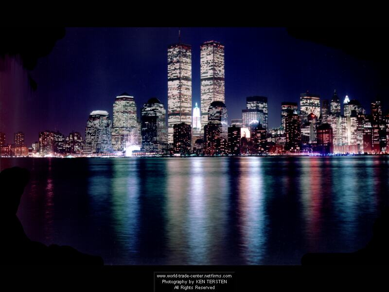 Tours du World Trade Center vues de nuit