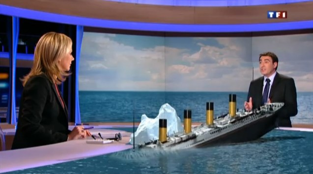 — Journal TV 20h sur TF1 - 23/01/2012 - Reconstitution naufrage Titanic en 3D —