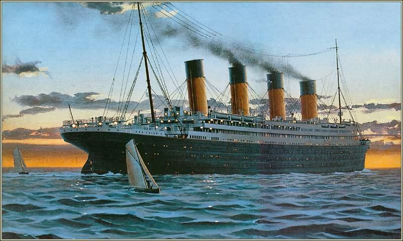 Le Titanic. Peinture de Ken Marschall