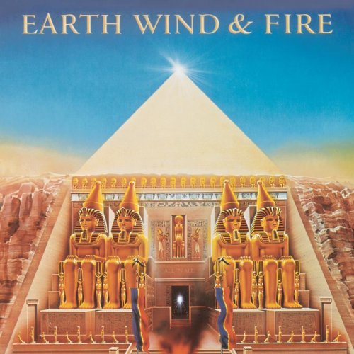 "Couvertures recto/verso de l'album ""All in all"" du groupe Earth Wind & Fire"