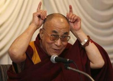 Le Dalai Lama et ses cornes...