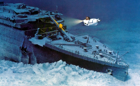 Epave du Titanic au fond de l'Atlantique