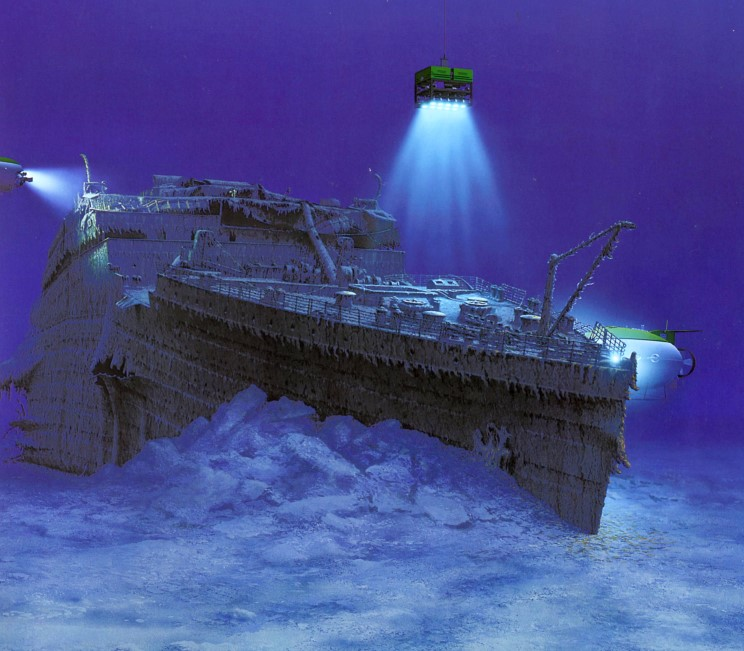 Epave du Titanic vue par © Ken Marschall