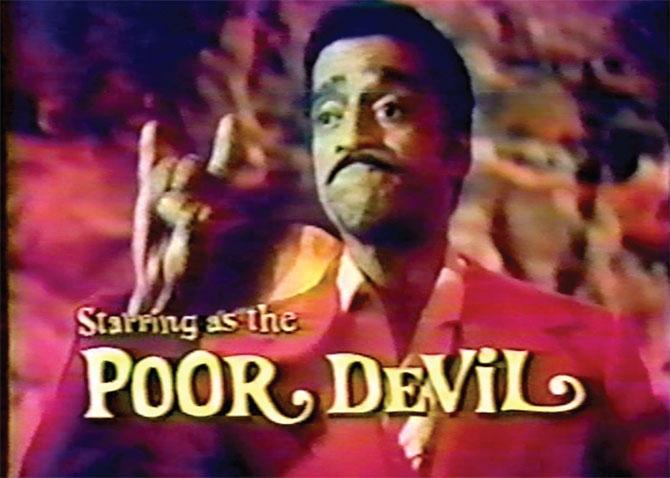 Sammy Davis Jr, sataniste disciple d'Anton Lavey créateur de l'Eglise de Satan  jouant le rôle du pauvre Diable