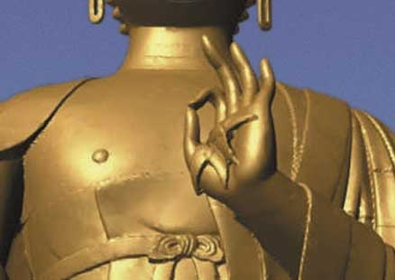 Salut digital en 666 de Bouddha