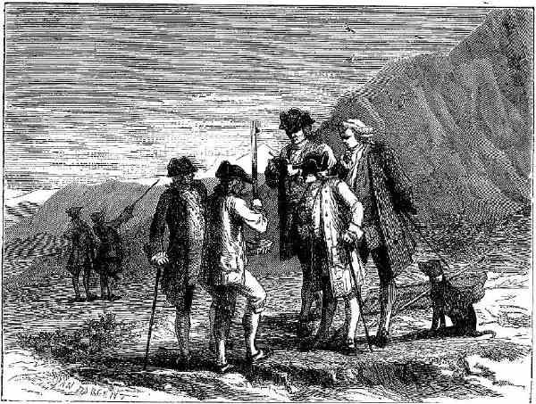 Mesure barométrique effectuée par F. Perier au pied du Puy de Dôme