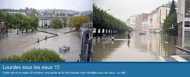 Lourdes sous les eaux