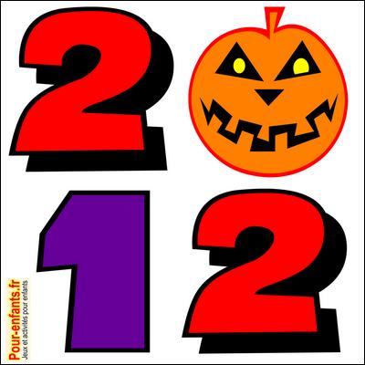 2012..., un coloriage dédié à halloween pour enfants!