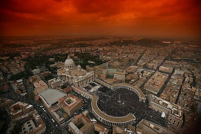 Vue aérienne de la Cité du Vatican