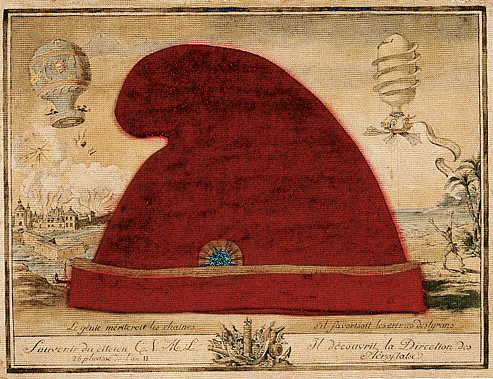 Bonnet Phrygien ou bonnet rouge de la Liberté