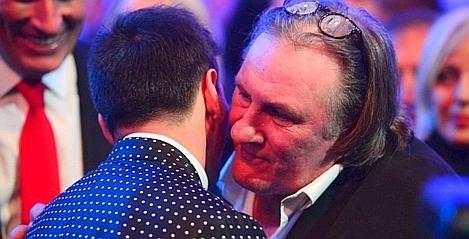 L'acteur Gérard Depardieu et le footballeur Lionel Messi