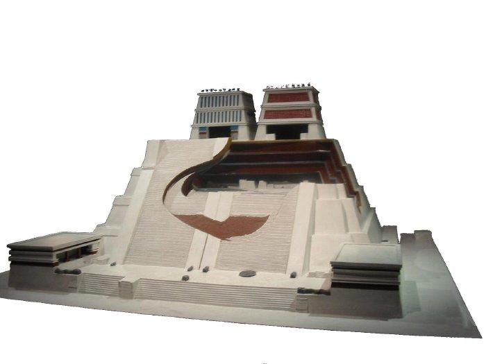 Maquette de temple Maya