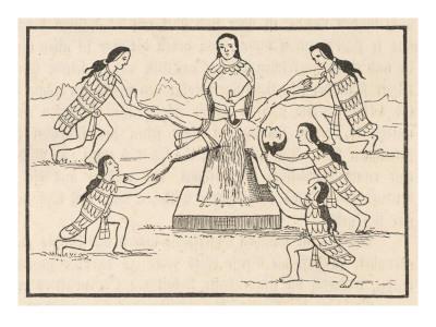 Cérémonie sacrificielle Inca dédiée au Dieu-Soleil