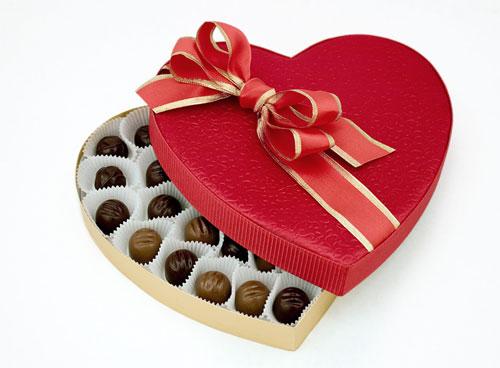 Boite de chocolats spéciale St Valentin