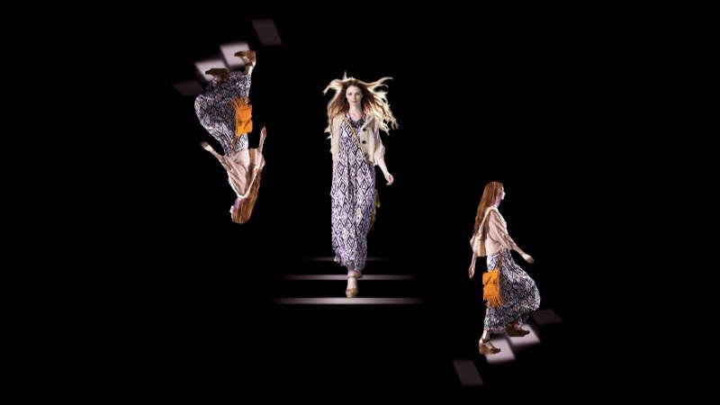 Show hologrammique organisé par Forever 21: Défilé de mode à New-York au Daryl Roth Theatre - Union Square