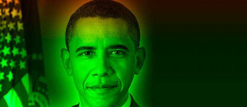Portrait possible hologrammique de B. Obama