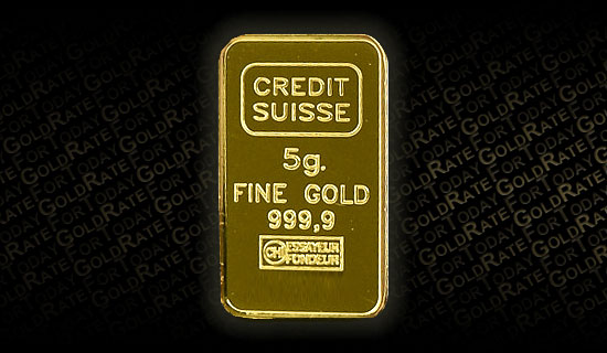 Plaquette d'or Credit Suisse