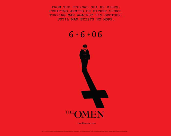 Affiche du remake du film: The Omen