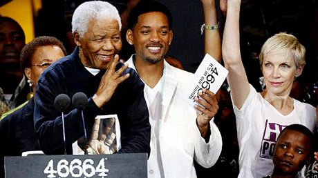 Nelson Mandela, Will Smith et Annie Lennox