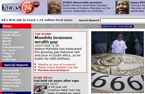 Joyeux Anniversaire à Nelson Mandela