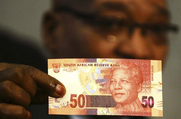 projet de billet de banque Nelson Mandela de 50 Rand