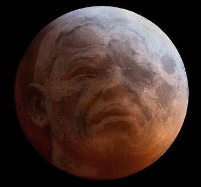 Mandela dans la lune