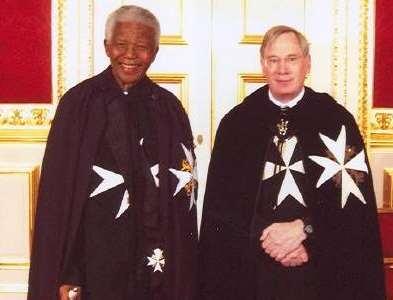 Nelson Mandela et L'Ordre de Malte
