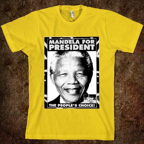 T-shirt à l'éffigie de Nelson Mandela