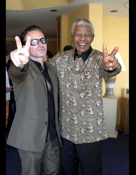 Nelson Mandela et Bono