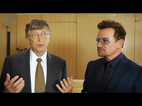 Bono et Bill Gates à L'Elysée