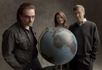 Bono et le couple Gates