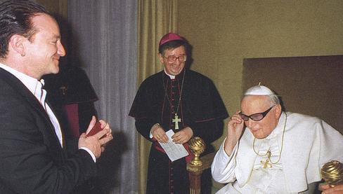 Jean-Paul II et Bono