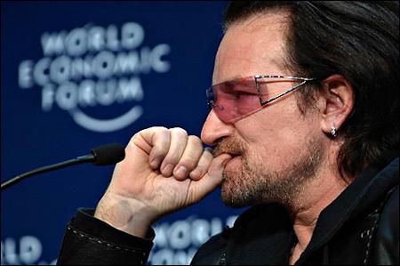 Bono au WEF à Davos