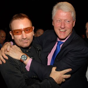 Bill Clinton et Bono