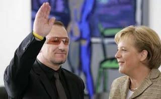 Angela Merkel et Bono