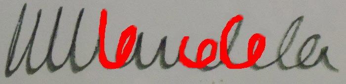 signature de Nelson Mandela
