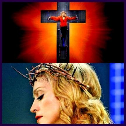 Madonna se moquant de Jésus-Chrisy