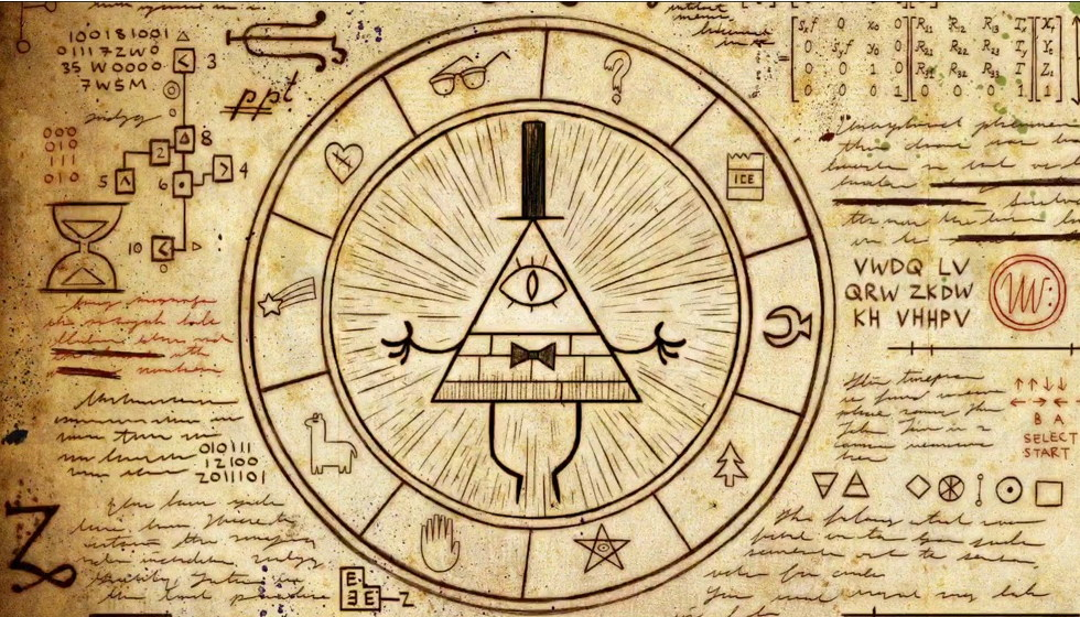 "Bill Cipher  Capture d'écran: série ""Gravity Falls"" sur Disney channel 411"