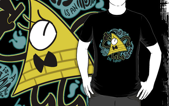 Bill Cipher imprimé sur T-shirt