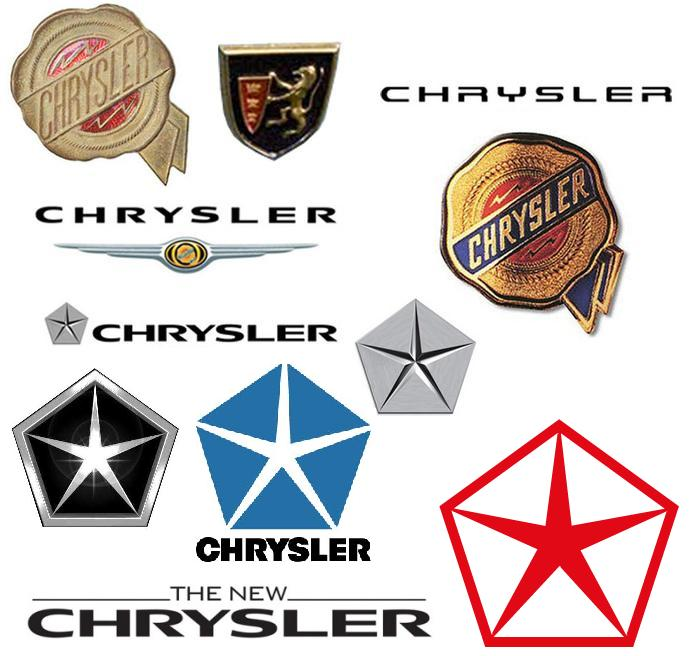 Logos de la firme automobile US Chrysler