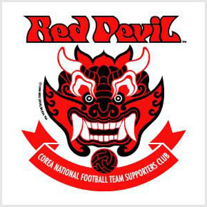 "Logo ""Red Devil"" de l'Equipe Nationale Coréenne"